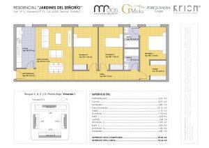 plano vivienda 1 señorio de illescas - mrdos proyectos, arquitectura y construcción