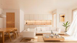 Cocina y salón del bloque de viviendas de Illescas - mrdos proyectos, Las Rozas, España