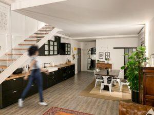 Cambio de uso, cocina loft en Madrid - mrdos proyectos, arquitectura y construcción