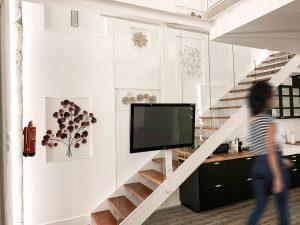 Cambio de uso, escalera loft en Madrid - mrdos proyectos, arquitectura y construcción