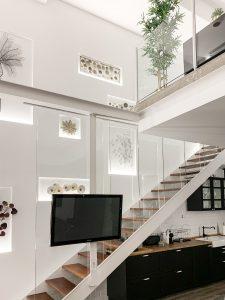 Cambio de uso, pared escalera loft en Madrid - mrdos proyectos, arquitectura y construcción