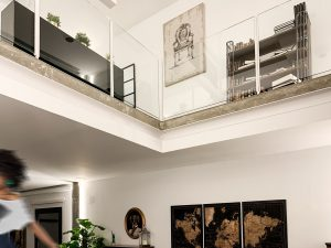 Cambio de uso, vistas al piso de arriba loft en Madrid - mrdos proyectos, arquitectura y construcción