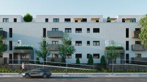 fachada viviendas en el señorio de illescas - mrdos proyectos, arquitectura y construcción