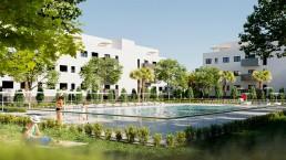 jardín viviendas en el señorio de illescas - mrdos proyectos, arquitectura y construcción