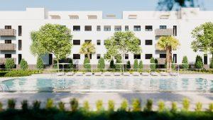 piscina viviendas en el señorio de illescas - mrdos proyectos, arquitectura y construcción