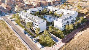 vista aérea viviendas en el señorio de illescas - mrdos proyectos, arquitectura y construcción