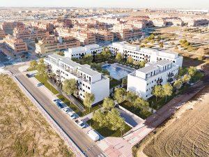 vista-aérea-viviendas-promocion-en-el-señorio-de-illescas-mrdos-proyectos-arquitectura-y-construcción