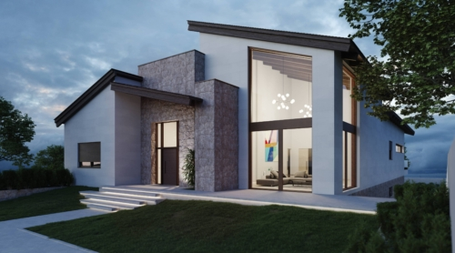 Proyecto de vivienda unifamiliar estilo vanguardista en Lominchar