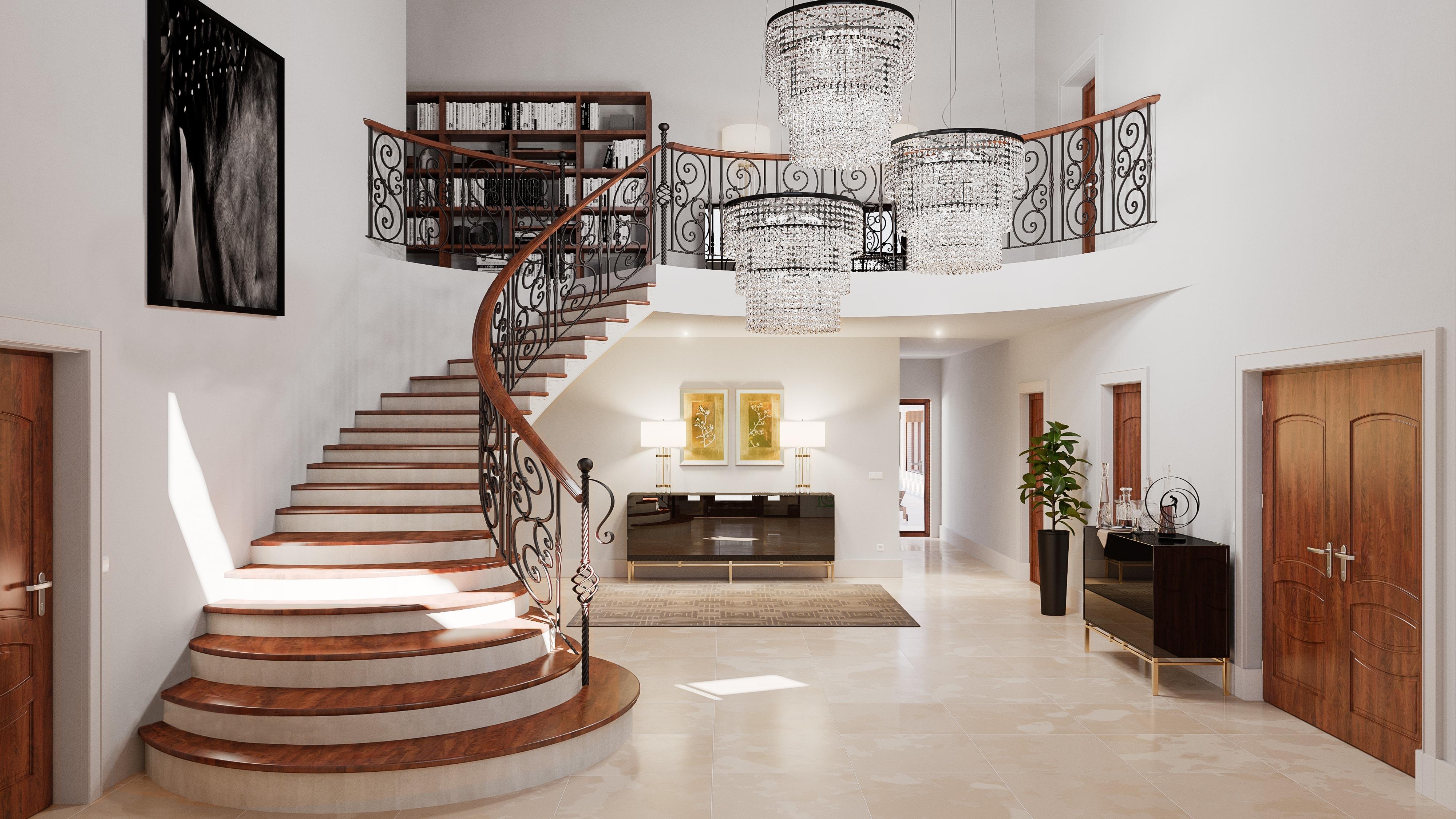 jardin interior expectacular en este dise ointerior de vivienda En este caso, los propietarios optaron por un estilo y unos acabados más  tradicionales, pero que sin duda suponen un resultado majestuoso y  espectacular.