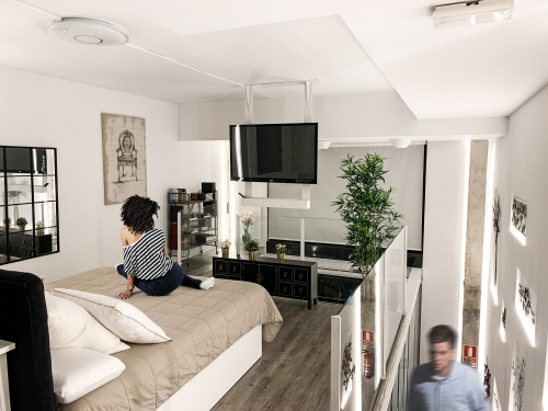 Cambio de uso, habitación principal loft en Madrid - mrdos proyectos, arquitectura y construcción