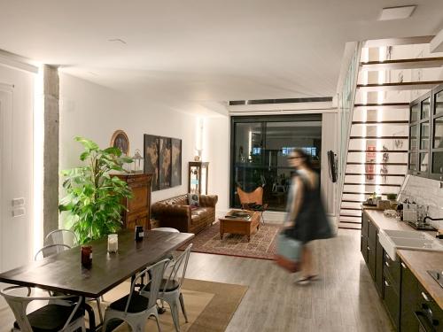 Cambio de uso, salón loft en Madrid - mrdos proyectos, arquitectura y construcción