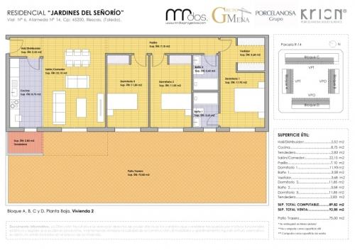plano vivienda 2 señorio de illescas - mrdos proyectos, arquitectura y construcción