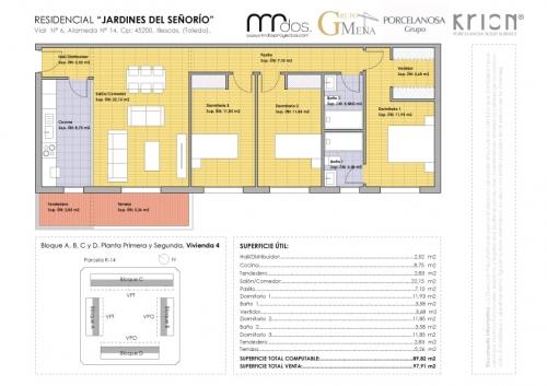 plano vivienda 4 señorio de illescas - mrdos proyectos, arquitectura y construcción