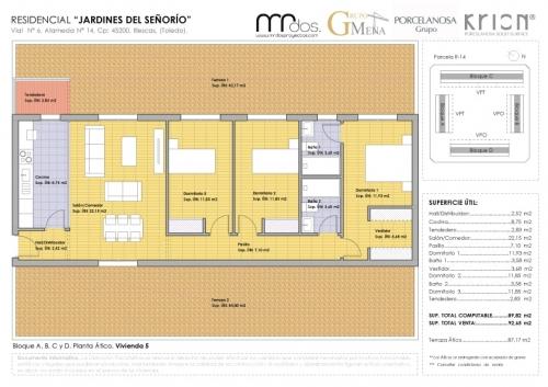 plano vivienda 5 señorio de illescas - mrdos proyectos, arquitectura y construcción
